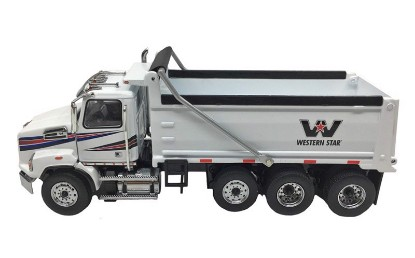 Picture of Western Star 4700 triaxle dump - white