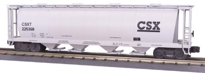 Picture of CSX 4 Bay cylindrical hopper car