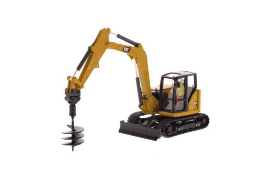 Picture of Cat 308 CR Mini Hydraulic Excavator - Next Generation  - With attachments