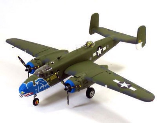 """Picture of B-25D Mitchell """"Hells Belles"""" USAAF 345th BG"""