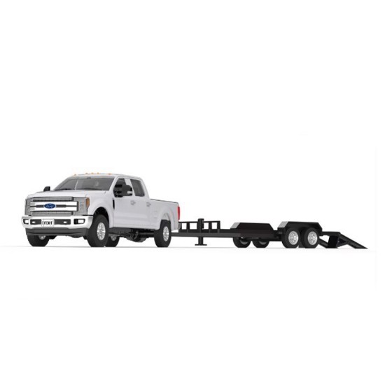 Picture of Ford F-250 Super Duty Pickup  - white/black +tandem tag trailer