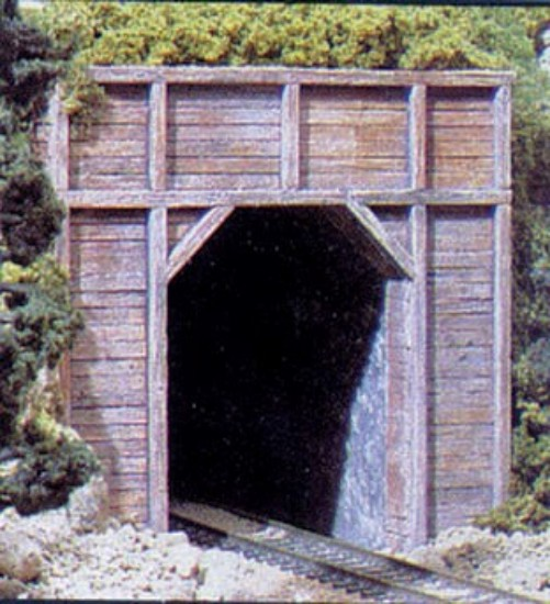 Picture of Single-Track Tunnel Portal (Hydrocal Plaster Casting) -- Timber