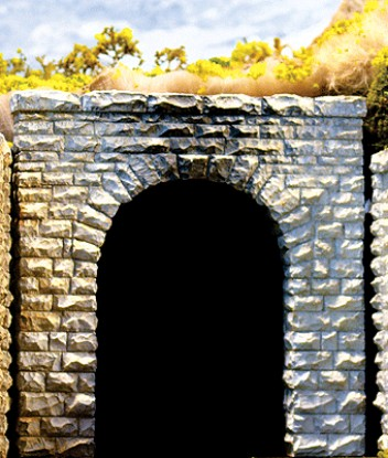"""Picture of Single-Track Cut Stone Tunnel Portal 2-Pack -- 2-1/2 x 2-1/2"""""""