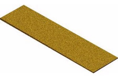 "Picture of Cork Roadbed Sheet  3 1/4"" X 36"""
