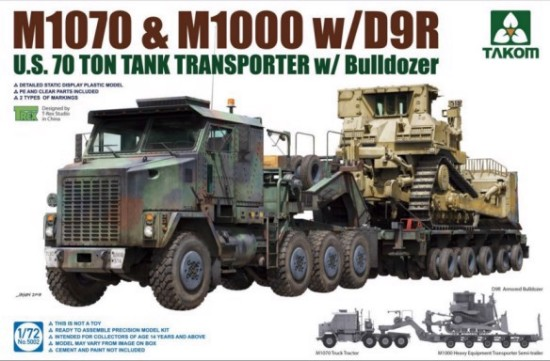 Picture of US M1070 Truck Tractor & M1000 70-Ton Tank Transporter w/Cat D9R Bulldozer