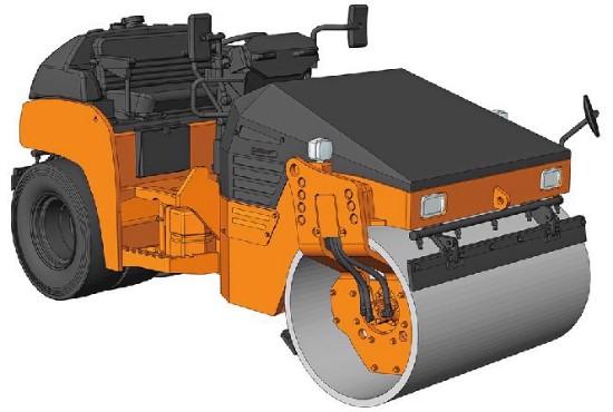 Picture of Hitachi ZC50C-5 vibratory roller   kit