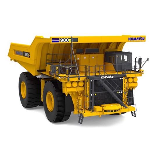 Picture of Komatsu 980E AT mining dump  yellow