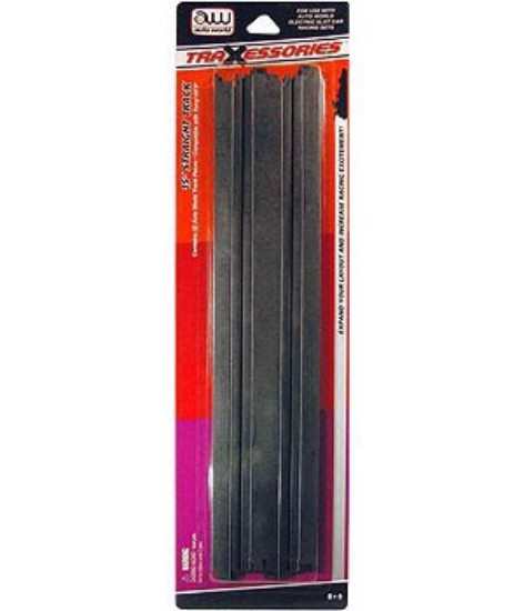 """Picture of HO Slot Car track  15"""" straight (2pk)"""
