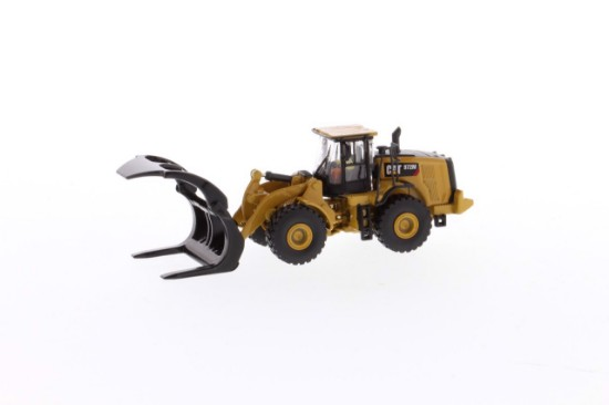 Picture of Caterpillar 972M wheel loader with log forks