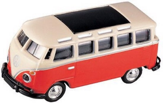 Picture of VW Bus- Red & white