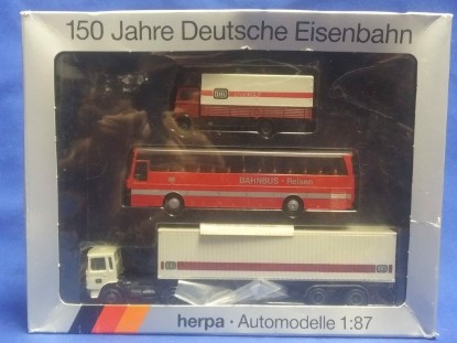 Picture of 3 Pack- Bus,  Truck & tractor trailer, MB + Kaesbohrer Setra
