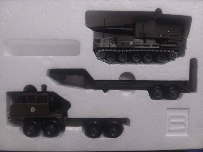 Picture of Berliet tank transporter + AMX 30 Pluton missile launcher tank