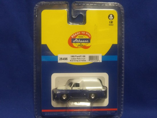 Picture of 1955 Ford F-100 Custom Panel Truck -blue & gray