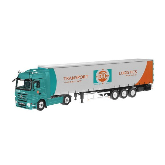 Picture of MB Actros semi curtain side trailer  DTC