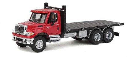 Picture of International 7600 3-Axle Flatbed Truck