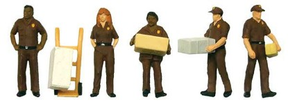 Picture of UPS Delivery Personnel -- Includes Handcart