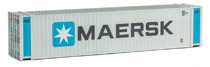 Picture of 45' CIMC Container -- Maersk (silver, blue, black)