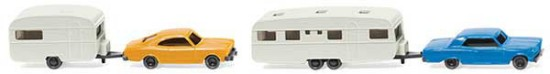 Picture of Chevrolet Malibu and Opel Rekord Coupe and Camper Trailer Set
