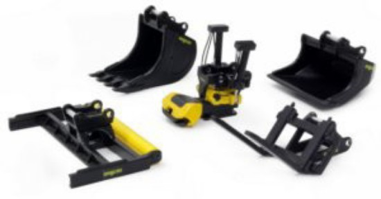 Picture of Engcon EC219 Tiltrotator with GR20R2 grab module + attachments