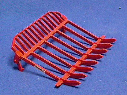 Picture of Mann Rake attachment for D8/D9 and similar machines - red