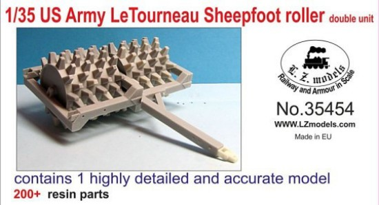 Picture of US Army LeTourneau sheepfoot roller double wide
