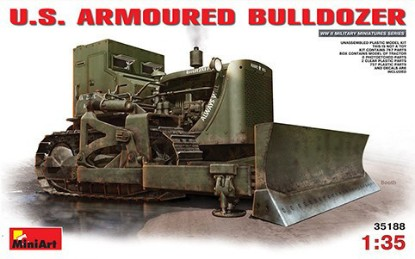 Picture of D7 armoured dozer with hydraulic blade  - US Army