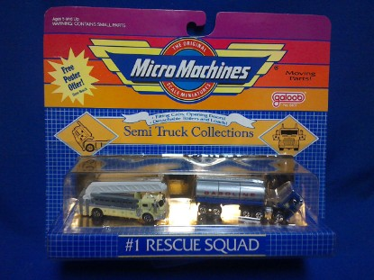 Picture of Micro Machines  #1 Rescue Squad Lafrance ladder + tanker