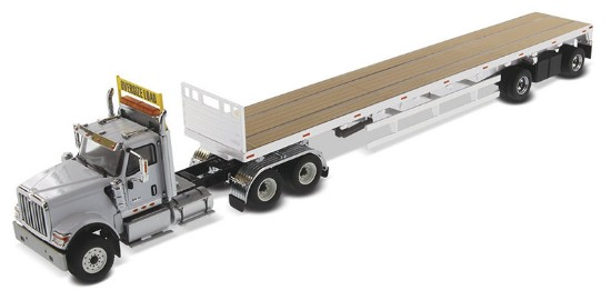 Picture of International HX520 gray + 53' flatbed trailer - silver