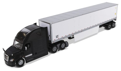 Picture of Freightliner New Cascadia with Sleeper Black+ 53' Dry Van Trailer with Skirts