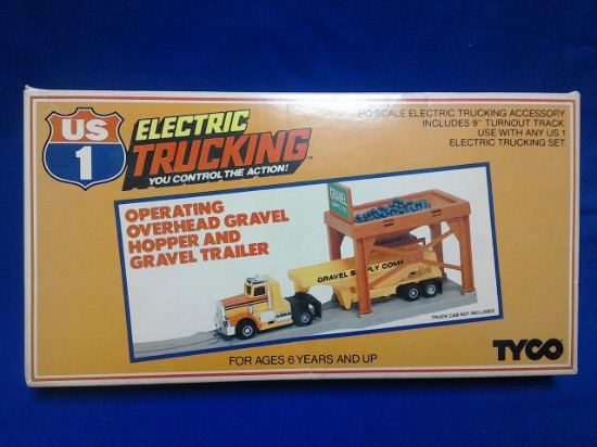 Picture of US1 Electric Trucking Overhead gravel hopper and trailer