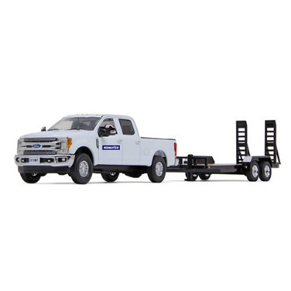 Picture of Ford F-250 Super Duty Pickup  - white/black +trailer KOMATSU