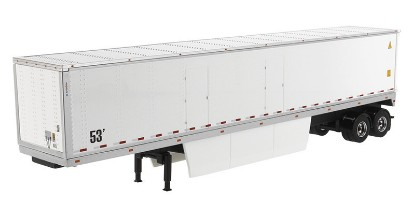 Picture of Dry cargo van trailer with Skirts - white