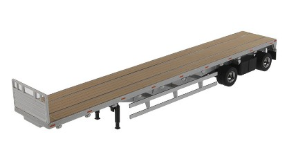 Picture of Flatbed trailer 53' - silver