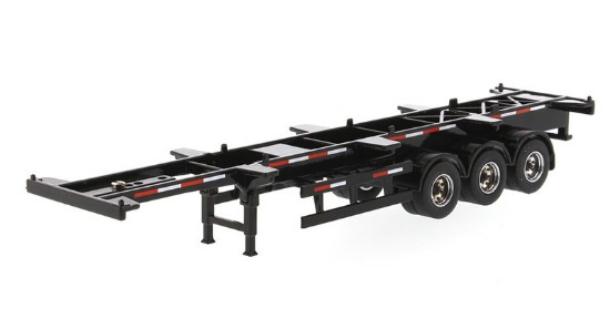 Picture of Skeleton trailer 40' - black -  for containers