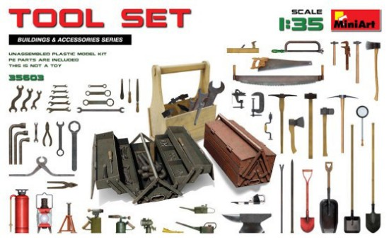 Picture of Tool set for 1/32 - 1/35 models (over 60 tools) kit