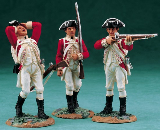 Picture of British 10th Regiment of Foot--three figures