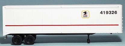 Picture of 40' Van Trailer - Kit -- US Mail (white)