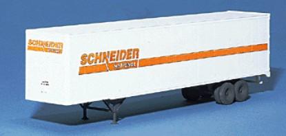 Picture of 48' Stoughton Semi Trailer - Kit -- Schneider (white)