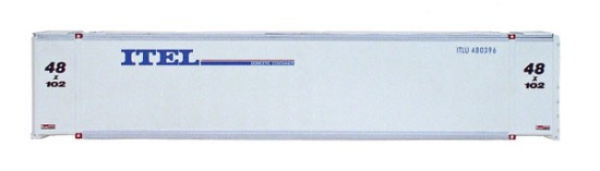 Picture of 48'  Container  -- Itel Leasing (white, blue)