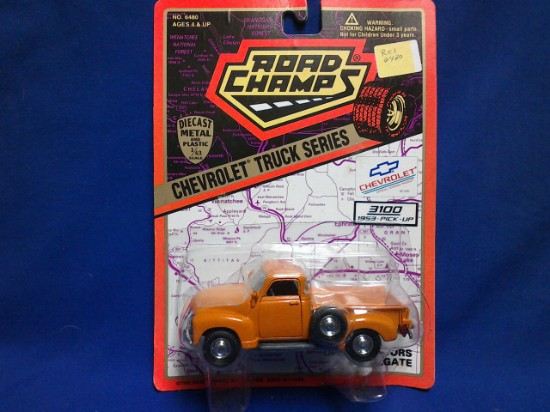 Picture of Chevy pick-up truck-orange