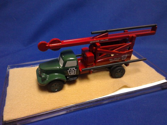Picture of Keystone percussion well drilling truck - green cab