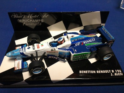 Picture of Benetton Renault B 196  race car  J.Alesi