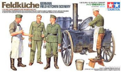 Picture of German field kitchen scenery WW2