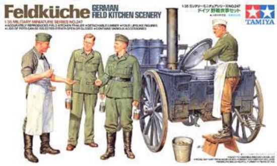 Picture of German field kitchen scenery WW2