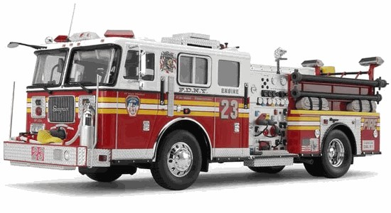 Picture of Diamond FDNY Engine 23 - 2002 Model JB Seagrave Pumper