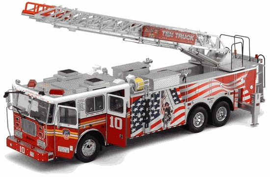 Picture of Diamond FDNY Seagrave Ladder 10 - Diamond Plate Series