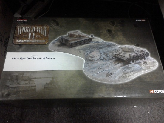 Picture of Kursk diorama  T-34 and Tiger tank set