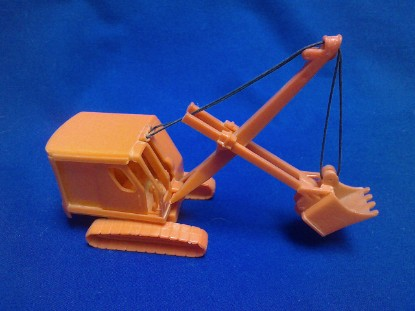 Picture of Bay City cable shovel  built plastic model Aurora