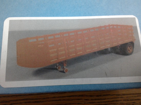 Picture of 32' Round nose 1 axle stake body trailer kit