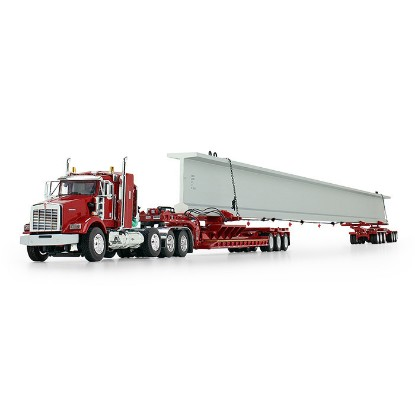 Picture of Kenworth T800 w/ fontaine lowboy + with Bunk and Elk River 6-Axle Hydra Steer Trailer with Bridge Beam red/red